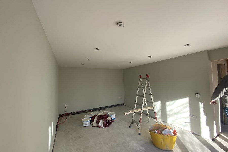 Large Extension Plastered